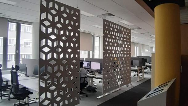 Akustyczne panele w biurze