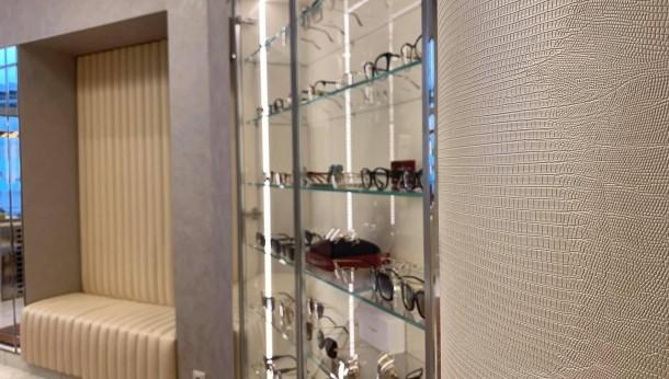 Tapety Muraspec w salonie Optyk Trzaska